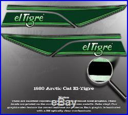 1980 Arctic Cat El-tigre Hood Decal Graphic Stripes