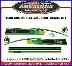 1980 Arctic Cat Jag 2000 Free Air Replacemet Decal Kit graphic 3000 3000 F/C