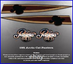 1981 Arctic Cat Pantera Hood Decal Graphics Decals