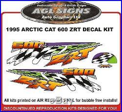 1997 Arctic Cat Zrt 600 Decal Kit, Reproductions Graphics