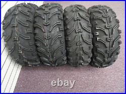 1998-2008 Arctic Cat 400 Bear Claw 25 Atv Tires (set 4) 25x8-12 25x10-12