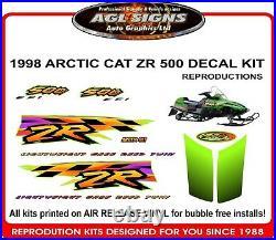 1998 ARCTIC CAT ZR 500 efi DECAL KIT, reproductions 600 440 497