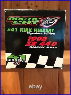 1998 ZR 440 snow pro Kirk Hibbert signature edition diecast toy. Rare