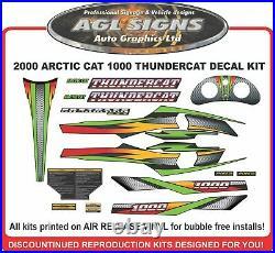 2000 ARCTIC CAT 1000 THUNDERCAT Reproduction Decal Kit, Black Hood