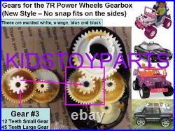 (2x) Gear #3 Third Gear 7R Power Wheels 12/45 TEETH Porsche Arctic Cat Mustang