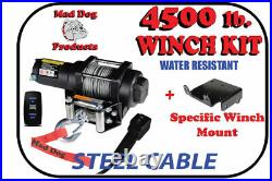 4500lb Mad Dog Winch Mount Combo Arctic-Cat / Textron 14-18 Wildcat Sport/Trail