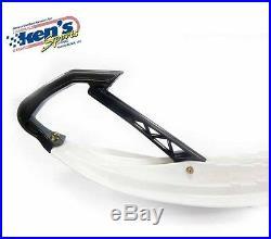 ARCTIC CAT 6 Standard Keel White Plastic SKI & CARBIDE Kit Pair 1988-2015 NEW