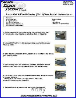 ARCTIC CAT M-SERIES (2005-2011) Proven Design Products PREMIUM Vent Kit BLK