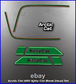 Arctic Cat 1980 Kitty Cat Hood Bumper Stripe Tape Graphics Decals Kit Like Nos