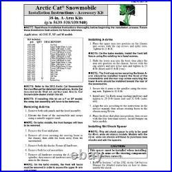 Arctic Cat 2012 M 800 1100 Turbo 38-39 Narrow A-Arm Kit A-Arms White 5639-940