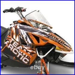 Arctic Cat Orange Scatter Hood & Side Panel Decal Wrap 2012-2018 ZR F XF M