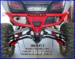 Arctic Cat Wildcat 1000 High Clearance Arched Lower Radius Bars Chromoly Black