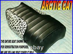 Arctic cat Mini bike Replacement seat cover whisker leopard sides 321b