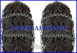 Atv Utv Tire Snow Chains 27x9-14 27x9x14 11 V Bar 27x11-14 27x11x14 Arctic Cat