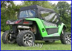 DOORS and REAR WINDOW Combo for Arctic Cat Wildcat Trail Soft Puncture Proof