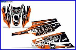 Decal Graphic Kit Arctic Cat FireCat F5, F6, F7 Sled Sabercat Snowmobile Wrap ORNG