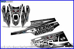 Decal Graphic Kit Arctic Cat FireCat F5, F6, F7 Sled Sabercat Snowmobile Wrap SLVR