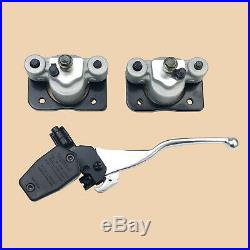 Front Brake Calipers Pads + Brake Master Cylinder for Arctic Cat 250 300 400 500