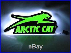 OEM Arctic Cat Green LED Aircat Jumping Cat Garage Mancave Sign 7639-870