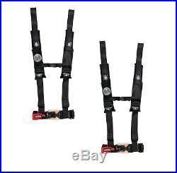 Pro Armor 4 Point Harness 2 Pads Seat Belt PAIR BLACK Arctic Cat Wildcat All