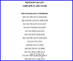 Rear Right And Left CV Joint Axles for Arctic Cat 500 4X4 2005-2010 2013 2014