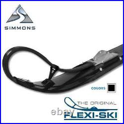 Simmons 6 Black Flexi Skis with 4 Cutting Carbide Arctic Cat 2012-Newer Pair