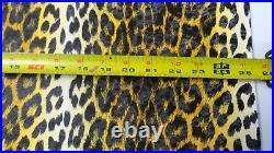 Vintage Arctic Cat Seat Vinyl Yellow Leopard Panther, Puma, King Kat, 25 x 48